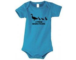 Body bébé Canetons Xtrem Migrateurs Bleu