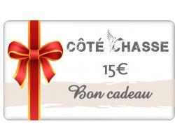 Bon cadeau Côte Chasse 15 euros