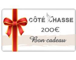 Bon cadeau Côte Chasse 200 euros