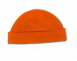 bonnet polaire uni orange fluo