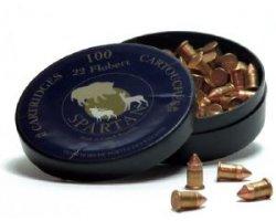 Bosquettes Flobert Spartan à tête conique 5,5 mm pour 22 LR