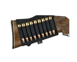 Cartouchière de crosse noire pour balles Mossy Oak