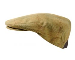 Casquette en tweed marron Harkness