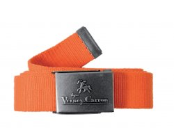 Ceinture en toile orange 120 cm Halifax Verney Carron