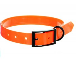 Collier chien TPU orange fluo