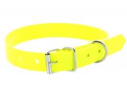 Collier PVC jaune fluo 1
