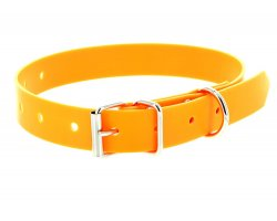 Collier PVC orange fluo 1