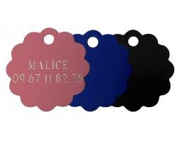 Médaille nuage gravée colorée 3 cm