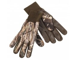 Gants chasse polaire cuir camouflage Deerhunter