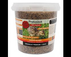 Granulat Premium 100% insectes 1-2 mm (faisandeaux, perdreaux, ...) Protosect