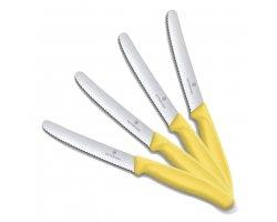 Pack couteau de table jaune VICTORINOX