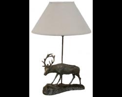 Lampe cerf grand modèle avec abat-jour