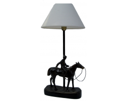 Lampe cheval avec cavalier