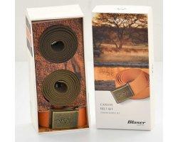 Lot de 3 ceintures BLASER Canvas Olive/Marron/Orange