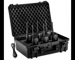 Lot de 6 talkies walkies G10 (montés en série) + mallette de transport - Midland