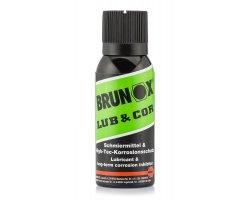 Lubrifiant Lub & Cor en aérosol Brunox 100 ml