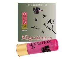Pack 100 cartouches Mary Arm Migration 28 cal 20