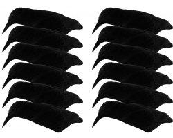 Pack 12 appelants corbeaux coquilles floquées