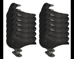 Pack 12 appelants corbeaux guetteur floqués avec pattes