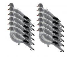 Pack 12 Appelants Pigeons ramiers sans pattes floqués