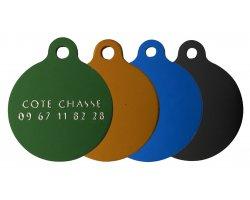 Médailles rondes gravées colorées 2.5 cm