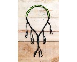 collier Porte-appeaux 6 pcs vert fluo et noir