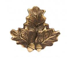 Porte-trophées Feuilles de chêne en bronze