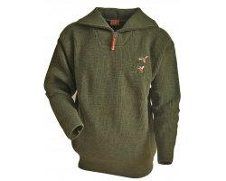 Pull chasse broderie Canard