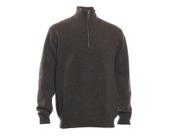 Pull de chasse col zippé Hastings marron Deerhunter