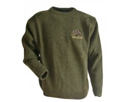Pull chasse enfant broderie sanglier