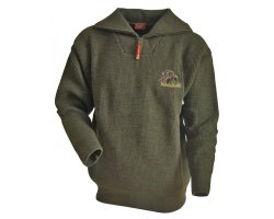 Pull chasse broderie sanglier
