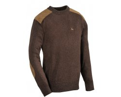 Pull chasse marron Fox rond Verney Carron