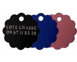Médaille nuage gravée colorée 2.5 cm