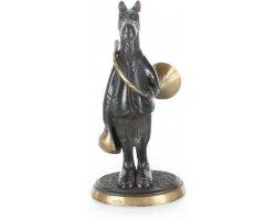 Statuette_cheval_avec_trompe_de_ chasse_en_bronze