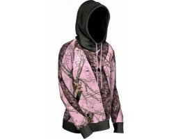 Sweat femme camouflage rose noir Mossy Oak Break up