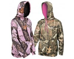 Pack 2 sweats femme MOSSY OAK  Rose et camouflage