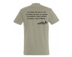 Tee-shirt gris philosophie de la chasse XTREM MIGRATEURS