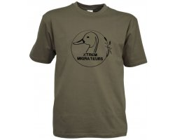 Tee-Shirt manches courtes Xtrem Migrateurs vert kaki