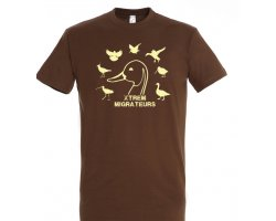 Tee-shirt marron espèces gibiers XTREM MIGRATEURS