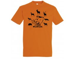Tee-shirt orange espèces gibiers XTREM WILDBOAR