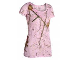 Tee-shirt camo rose Mossy Oak Pink