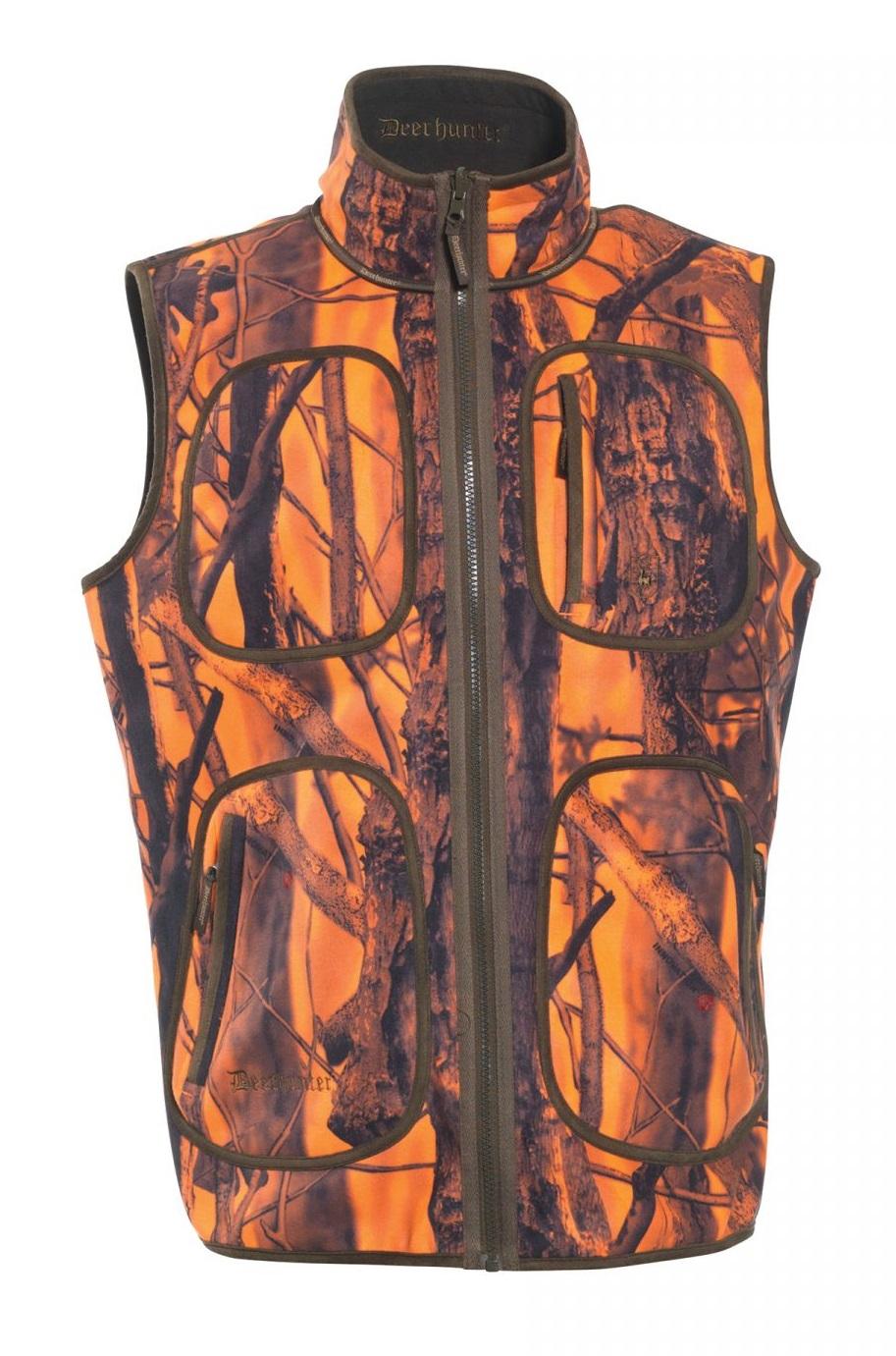 Deerhunter Veste de chasse polaire camouflage Blaze Gamekeeper r/éversible