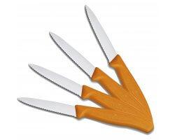 Pack 4 couteaux de table dentelé orange VICTORINOX