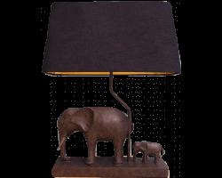 Lampe éléphants en résine