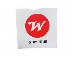 Autocollant Winchester blanc et rouge