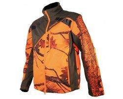 Veste softshell enfant camouflage orange Newtek SOMLYS