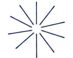 Pack éco 10 colliers PVC souple bleu