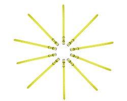 Pack éco 10 colliers PVC souple jaune