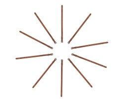 Pack éco 10 colliers PVC souple marron