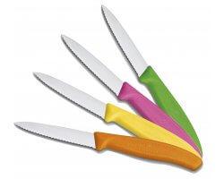 Pack 4 couteaux de table dentelé multi color VICTORINOX